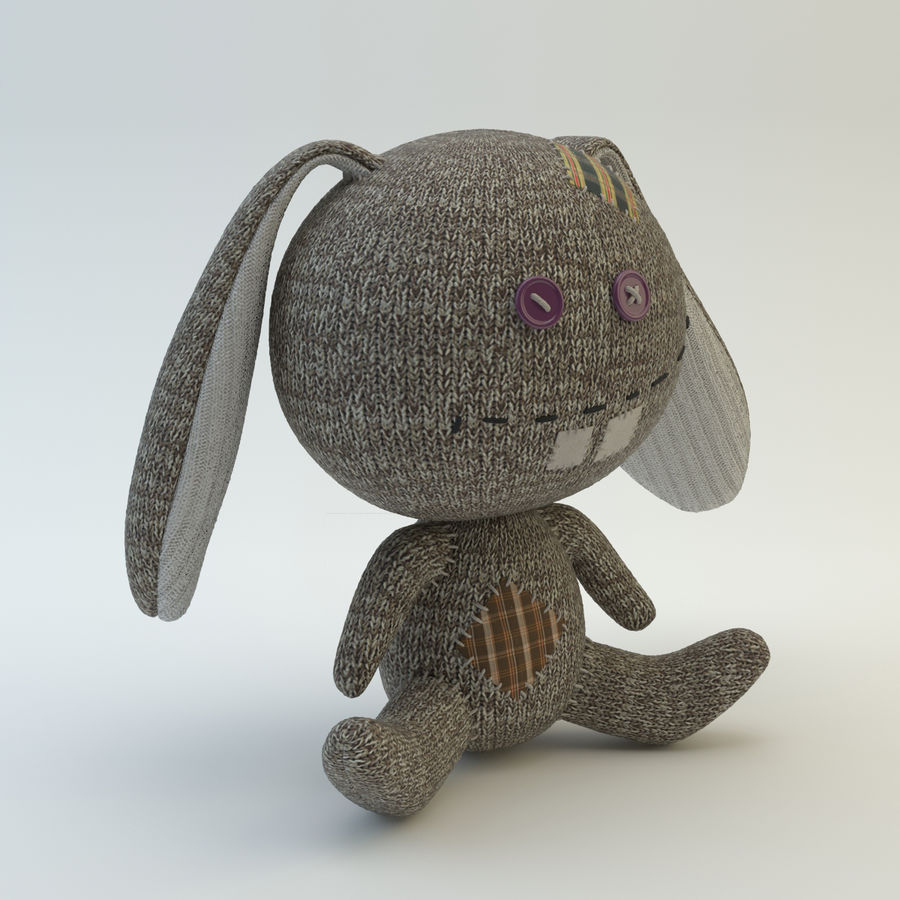 Sock Rabbit royalty-free 3d model - Preview no. 4