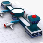 Cartoon Flughafen 3d model