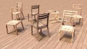 ゲームの準備ができて古いソビエトの椅子 3d model