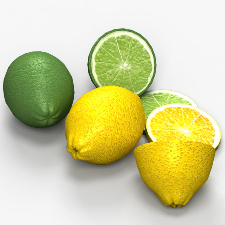 Лимон лайм royalty-free 3d model - Preview no. 3