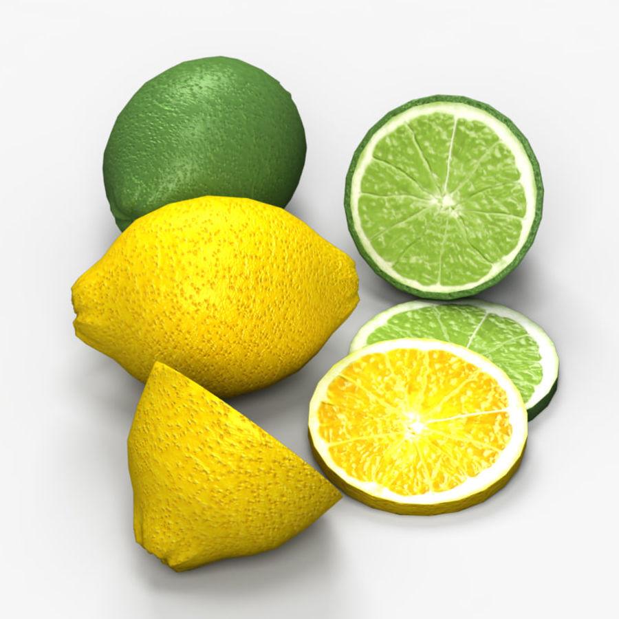 Лимон лайм royalty-free 3d model - Preview no. 2