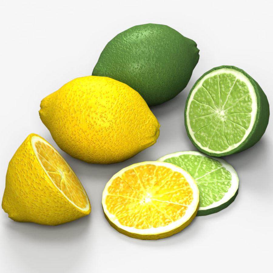 Лимон лайм royalty-free 3d model - Preview no. 1