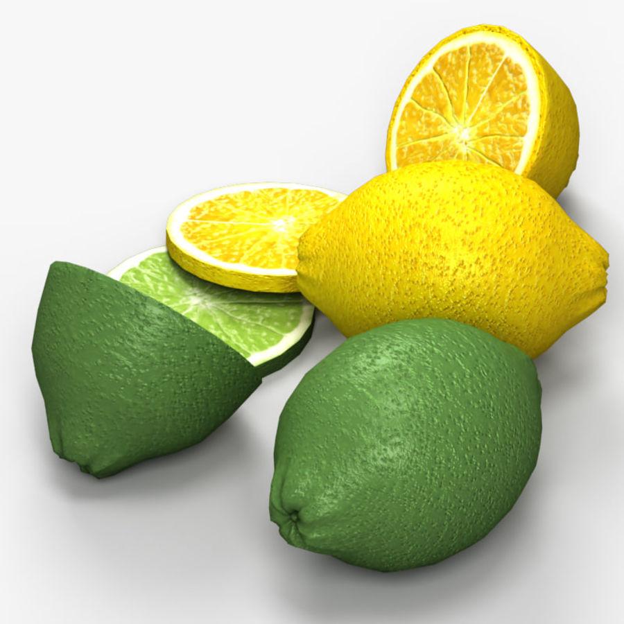 Лимон лайм royalty-free 3d model - Preview no. 5