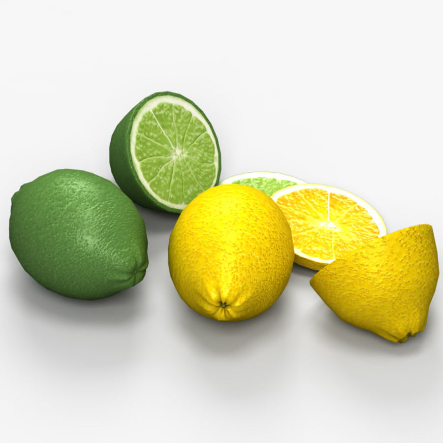 Лимон лайм royalty-free 3d model - Preview no. 4
