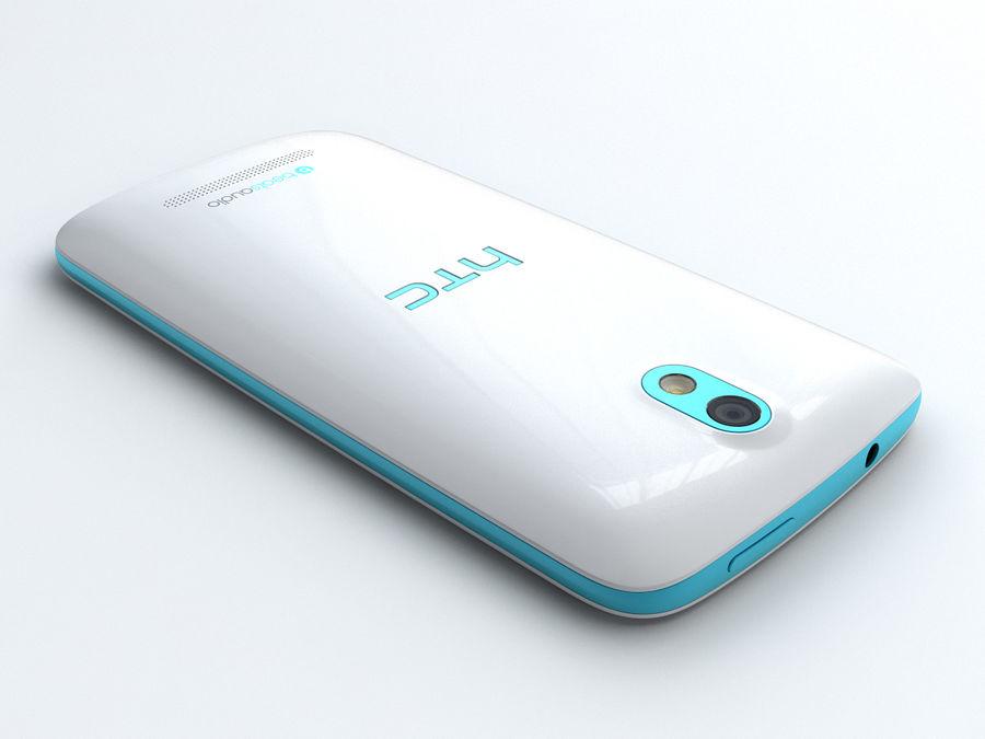 HTC Desire 500 royalty-free 3d model - Preview no. 3