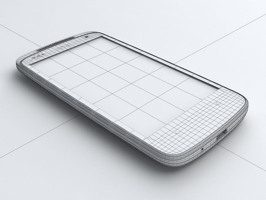 HTC Desire 500 royalty-free 3d model - Preview no. 22