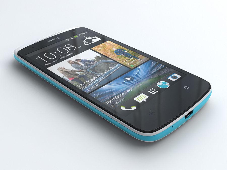 HTC Desire 500 royalty-free 3d model - Preview no. 1
