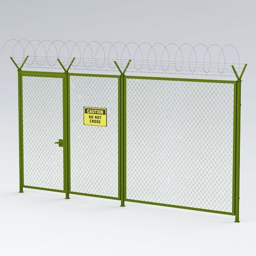 Fence032 royalty-free 3d model - Preview no. 4