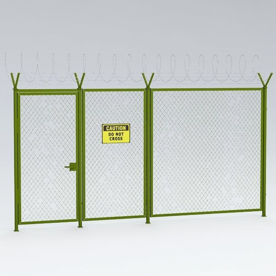 Fence032 royalty-free 3d model - Preview no. 3