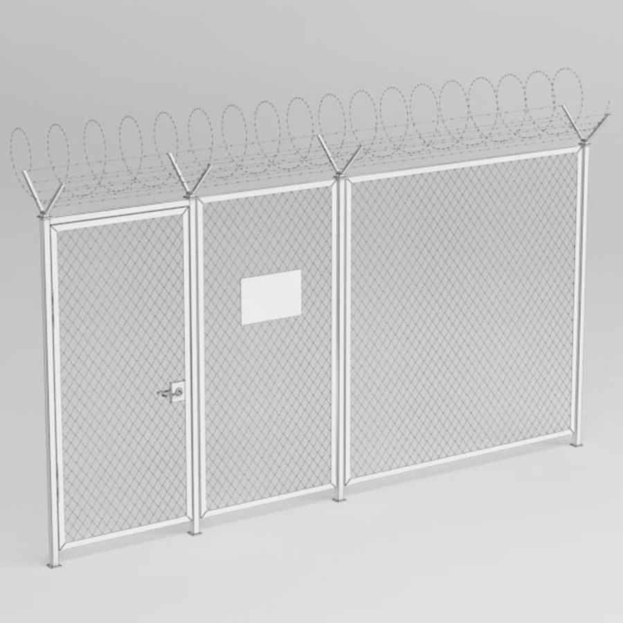 Fence032 royalty-free 3d model - Preview no. 5