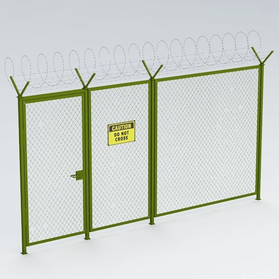 Fence032 royalty-free 3d model - Preview no. 2