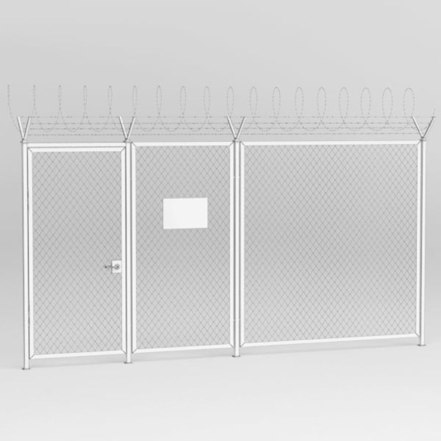 Fence032 royalty-free 3d model - Preview no. 6