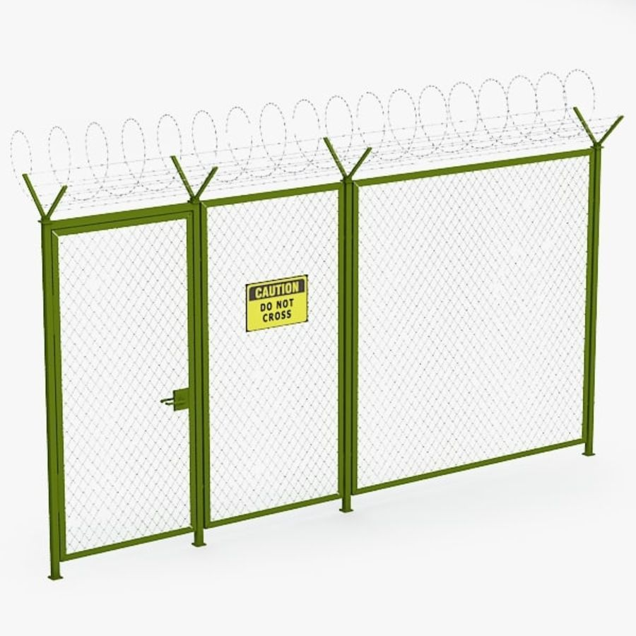 Fence032 royalty-free 3d model - Preview no. 1