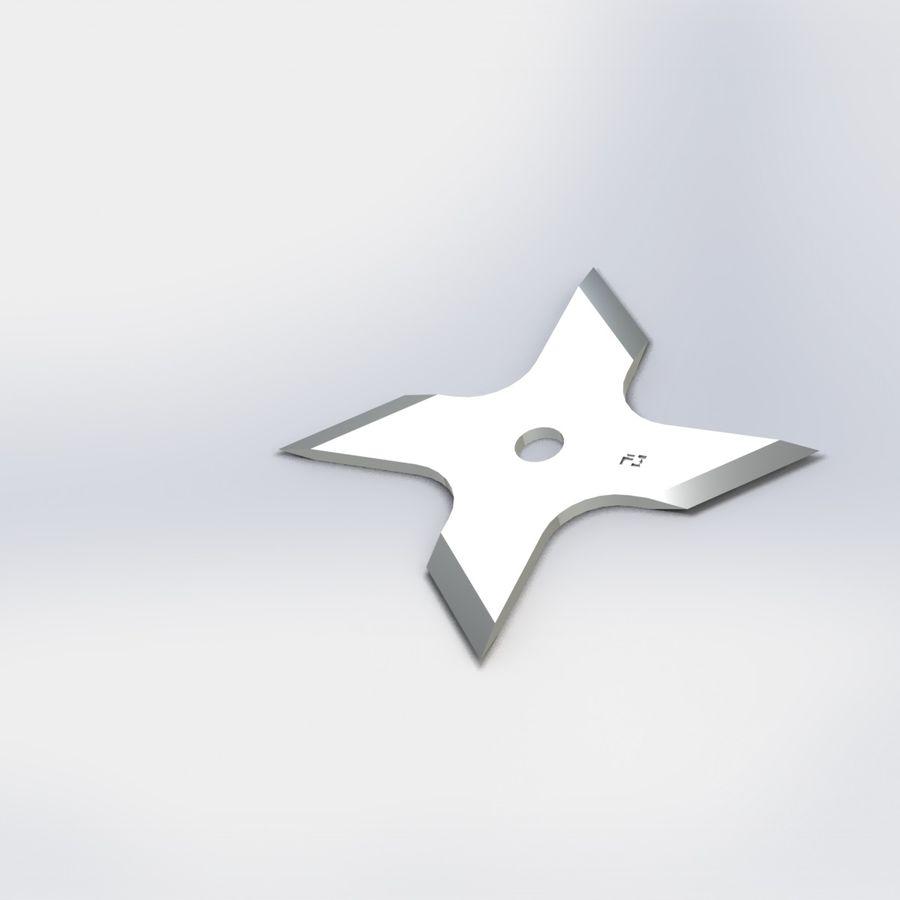 Hira Shuriken 3d Model 3 Obj Max Sldpr Stl Unknown Ige Fbx Free3d