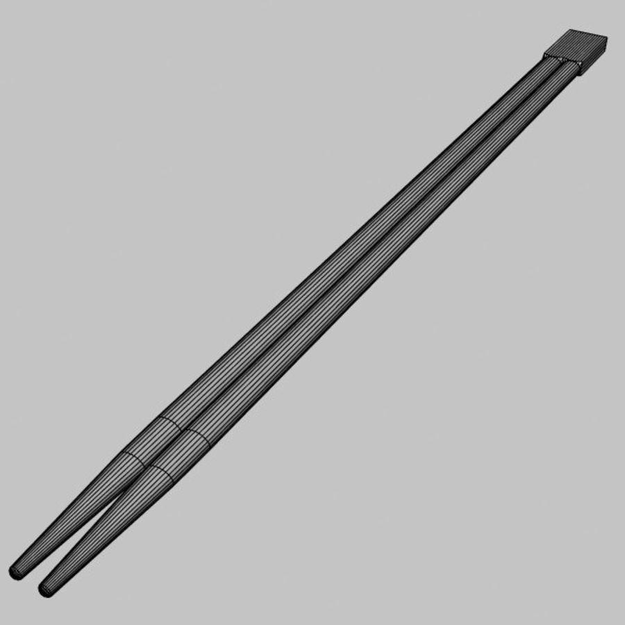 Waribashi Chopsticks royalty-free 3d model - Preview no. 6