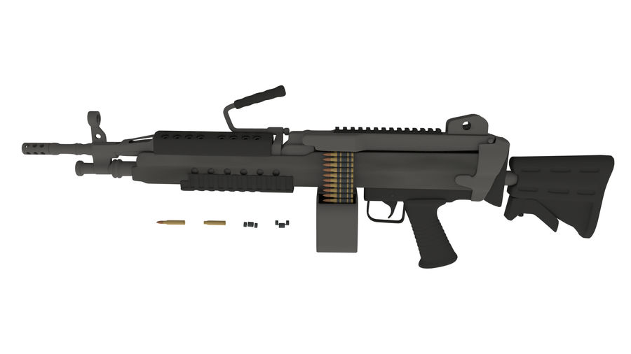 M249のこぎり royalty-free 3d model - Preview no. 2