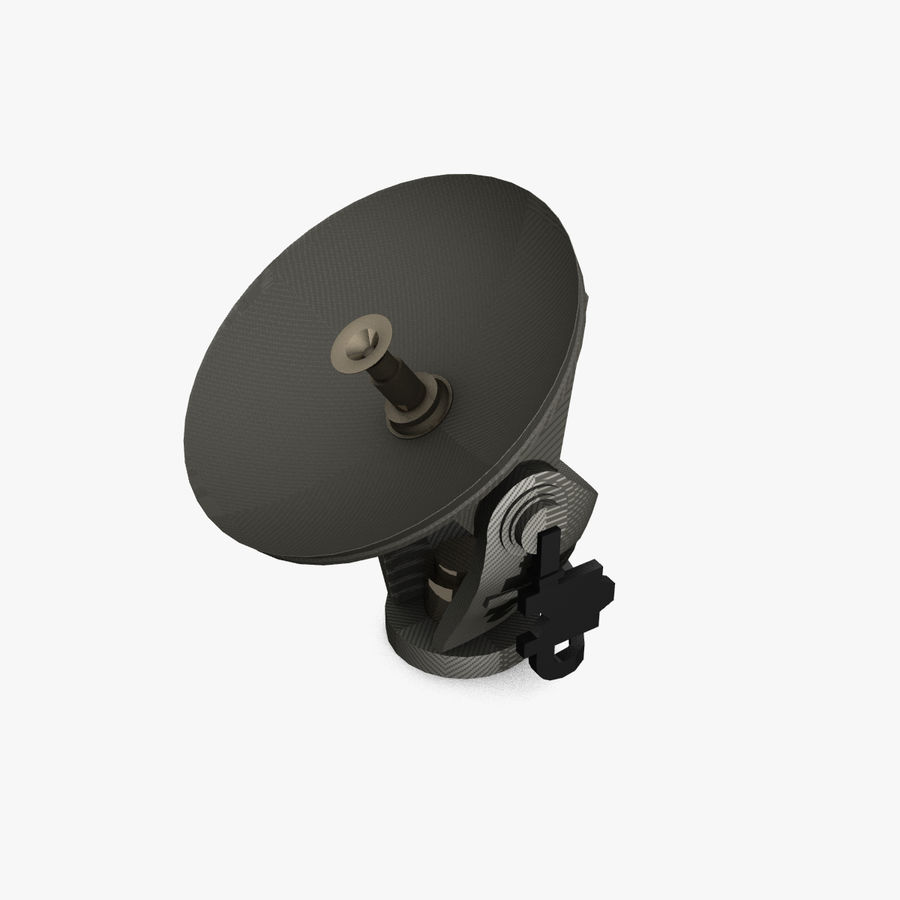 Mobile Satellite Dish (portable) royalty-free 3d model - Preview no. 1