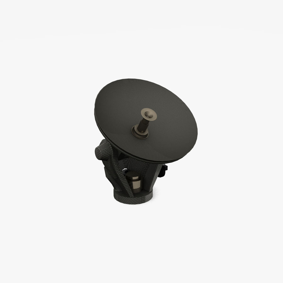 Mobile Satellite Dish (portable) royalty-free 3d model - Preview no. 3