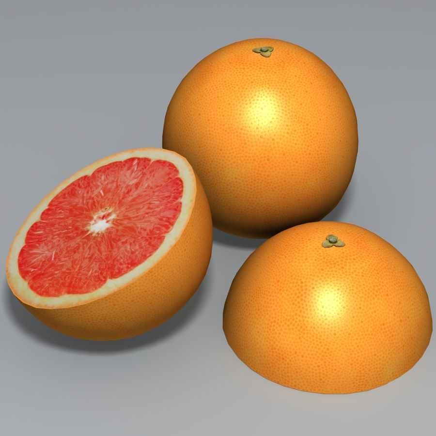 Pink Grapefruit royalty-free 3d model - Preview no. 2