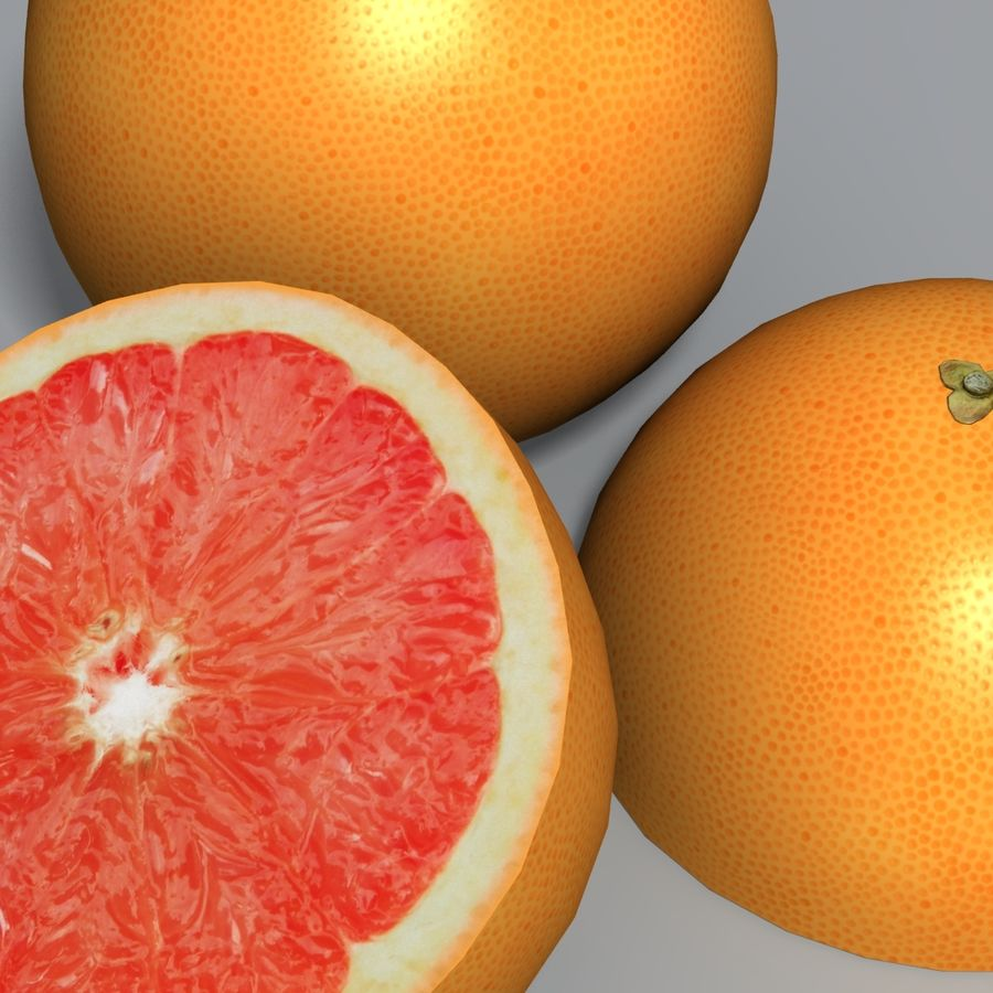 Pink Grapefruit royalty-free 3d model - Preview no. 6