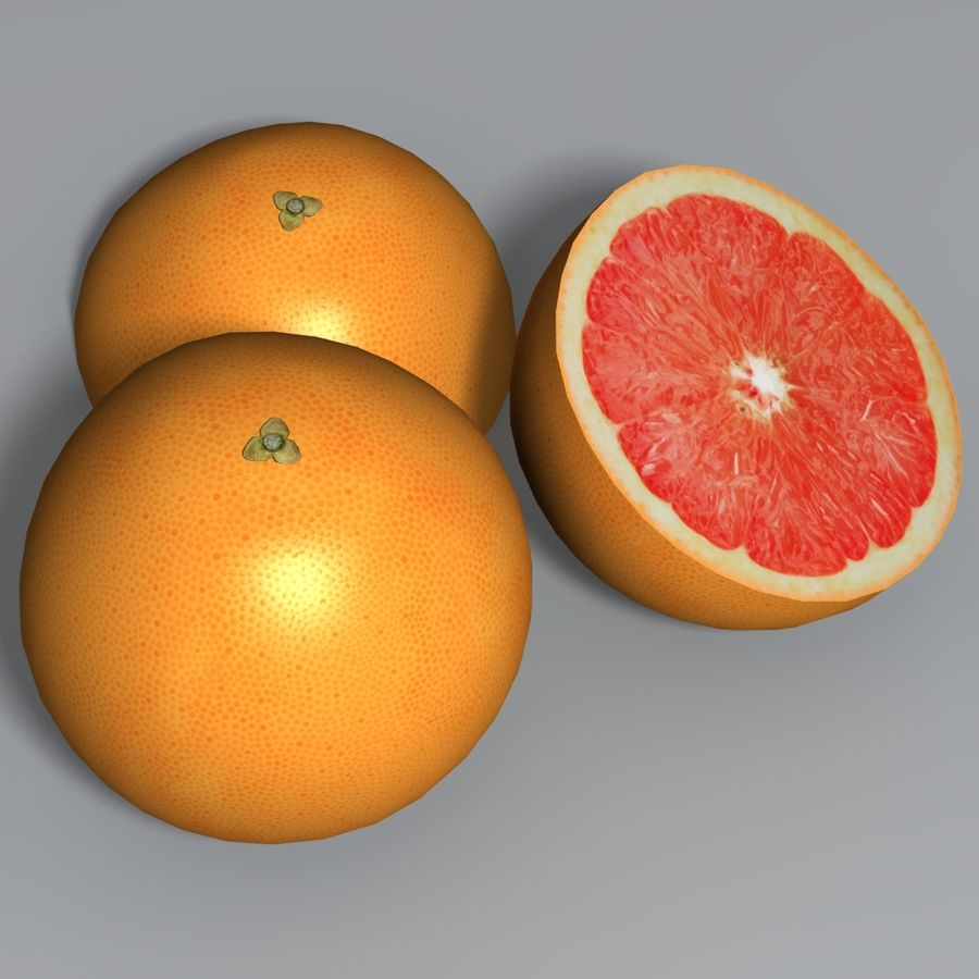 Pink Grapefruit royalty-free 3d model - Preview no. 4