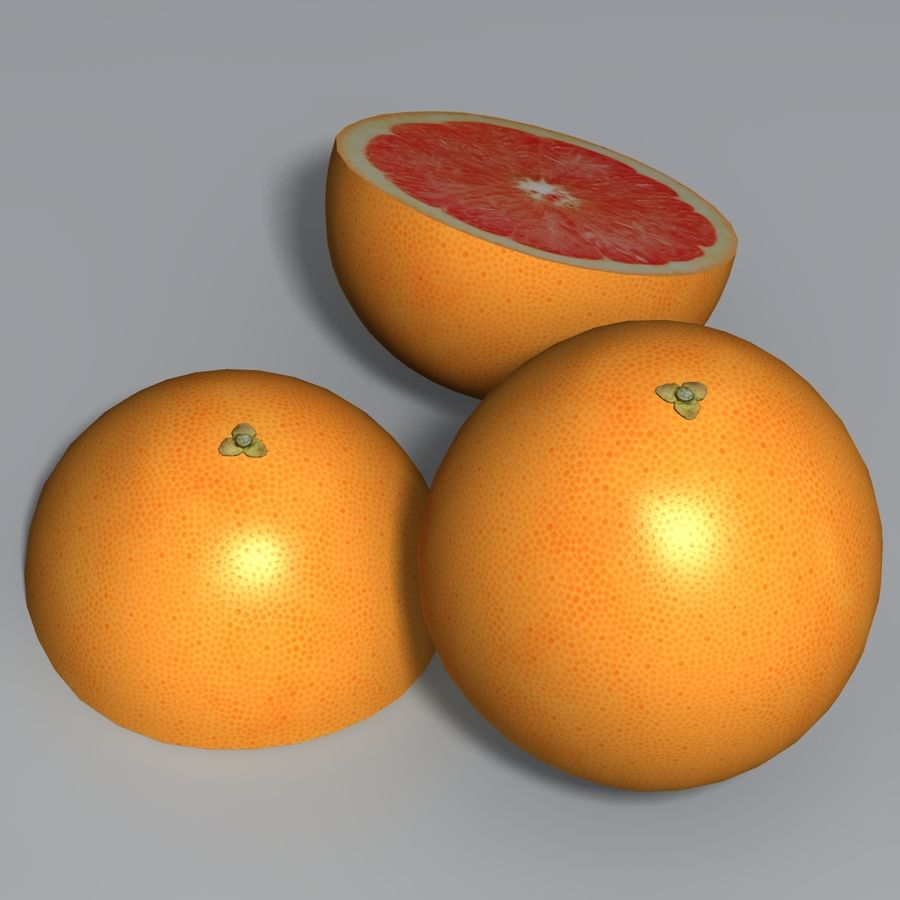 Pink Grapefruit royalty-free 3d model - Preview no. 3