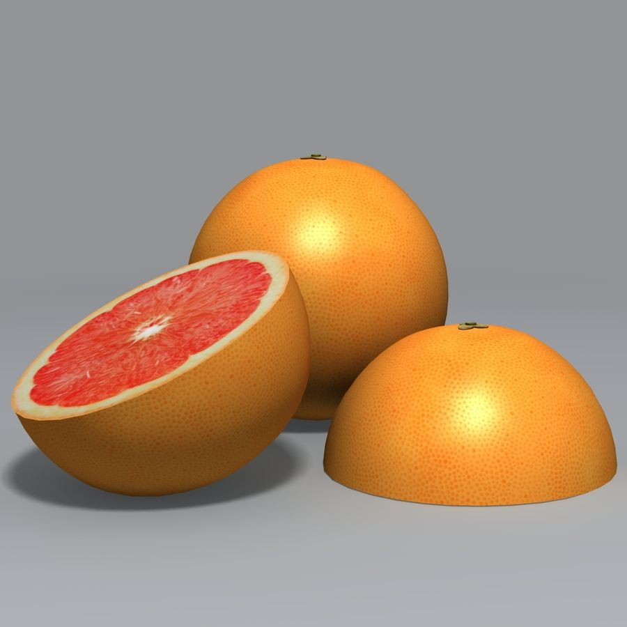 Pink Grapefruit royalty-free 3d model - Preview no. 5