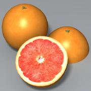 Pink Grapefruit 3d model
