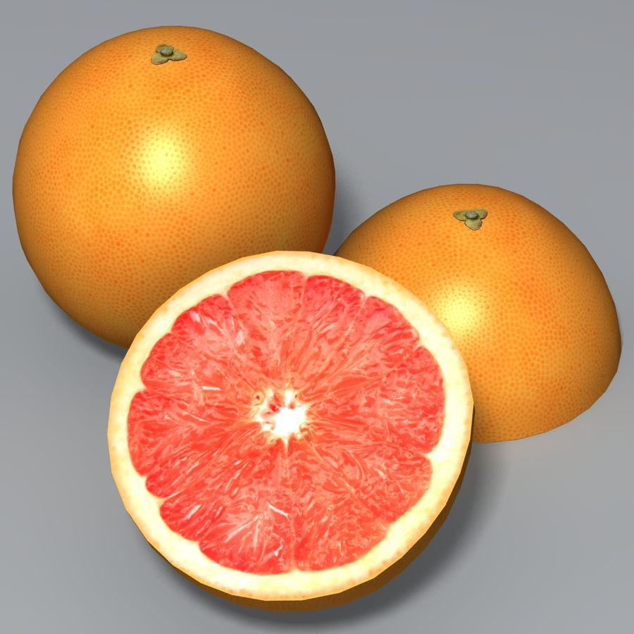 Pink Grapefruit royalty-free 3d model - Preview no. 1