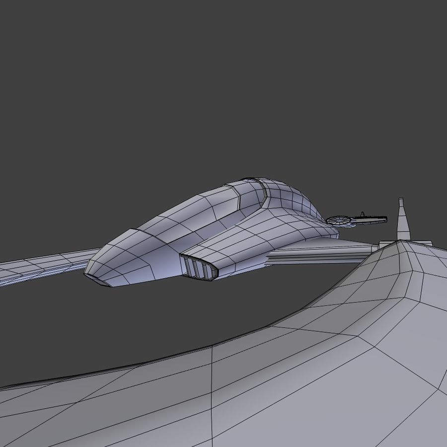Space Ship royalty-free 3d model - Preview no. 8