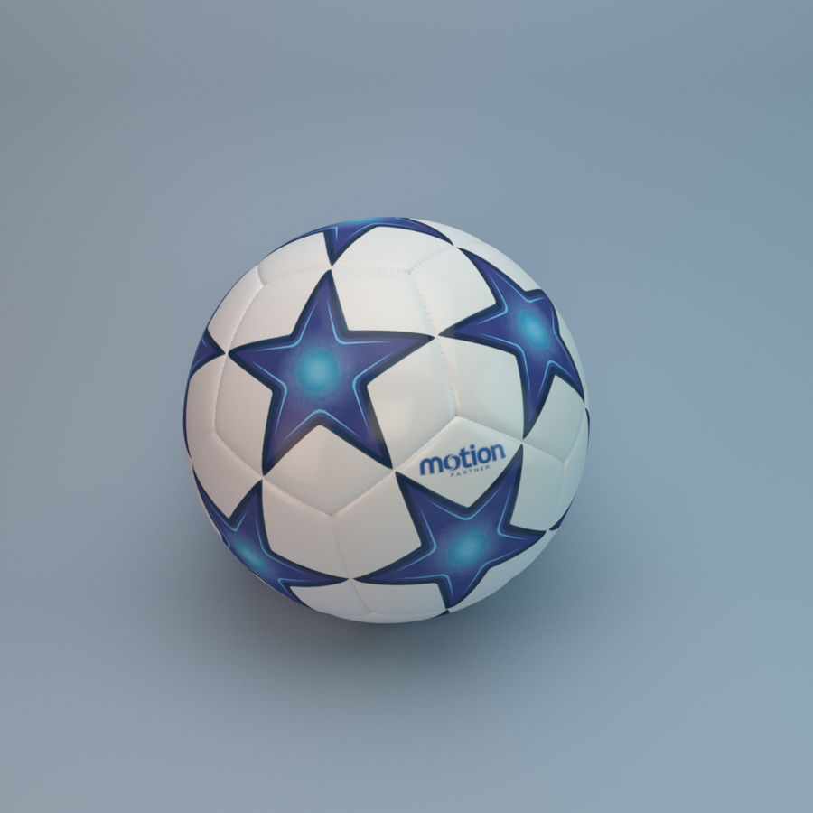 Voetbal royalty-free 3d model - Preview no. 5