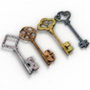 Vintage Anahtarlar 3d model
