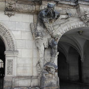Portão do portão do portão de gatekeeper Dresden 3d model