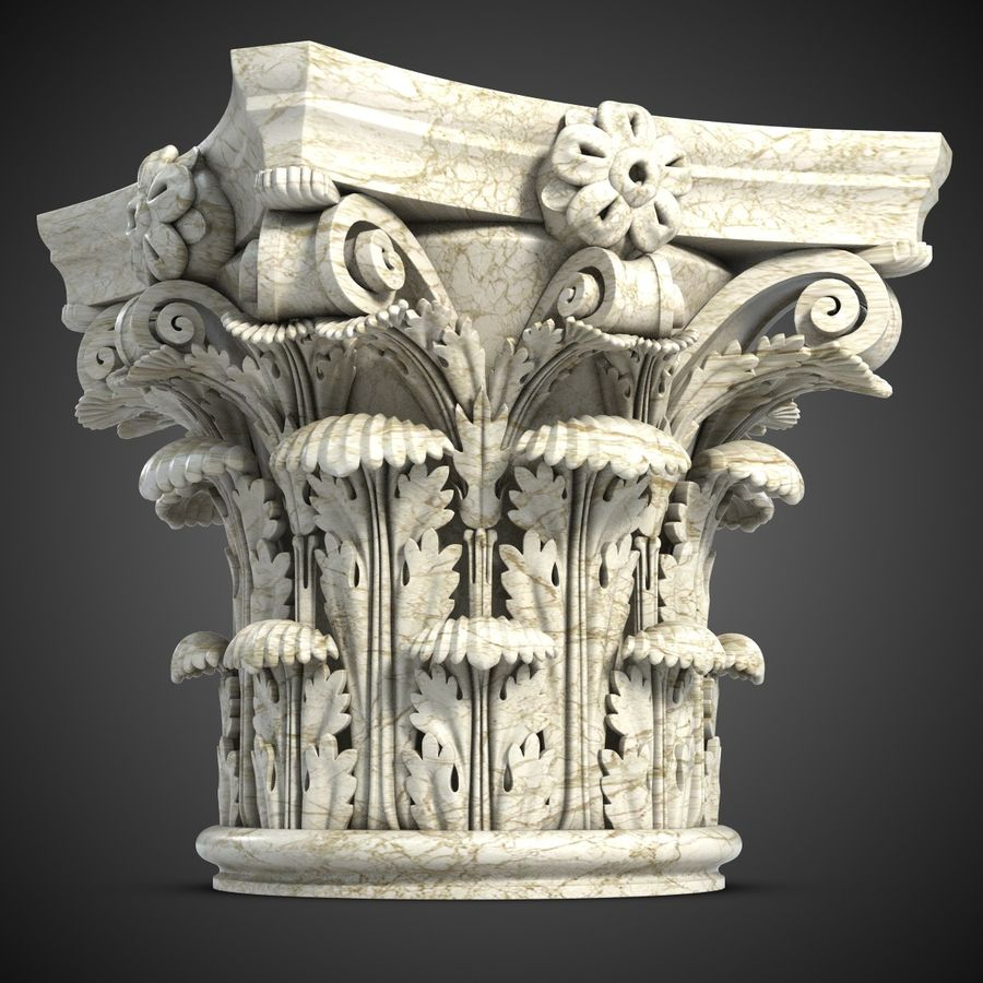 Column Capital royalty-free 3d model - Preview no. 2