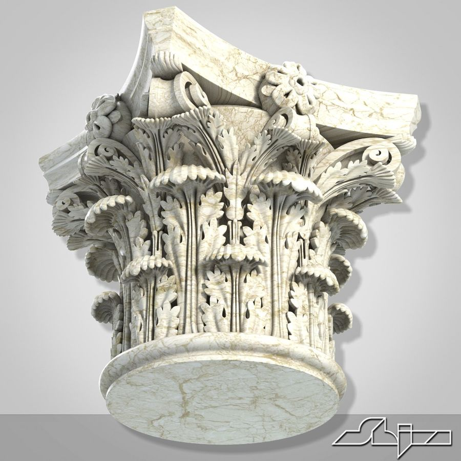 Column Capital royalty-free 3d model - Preview no. 5