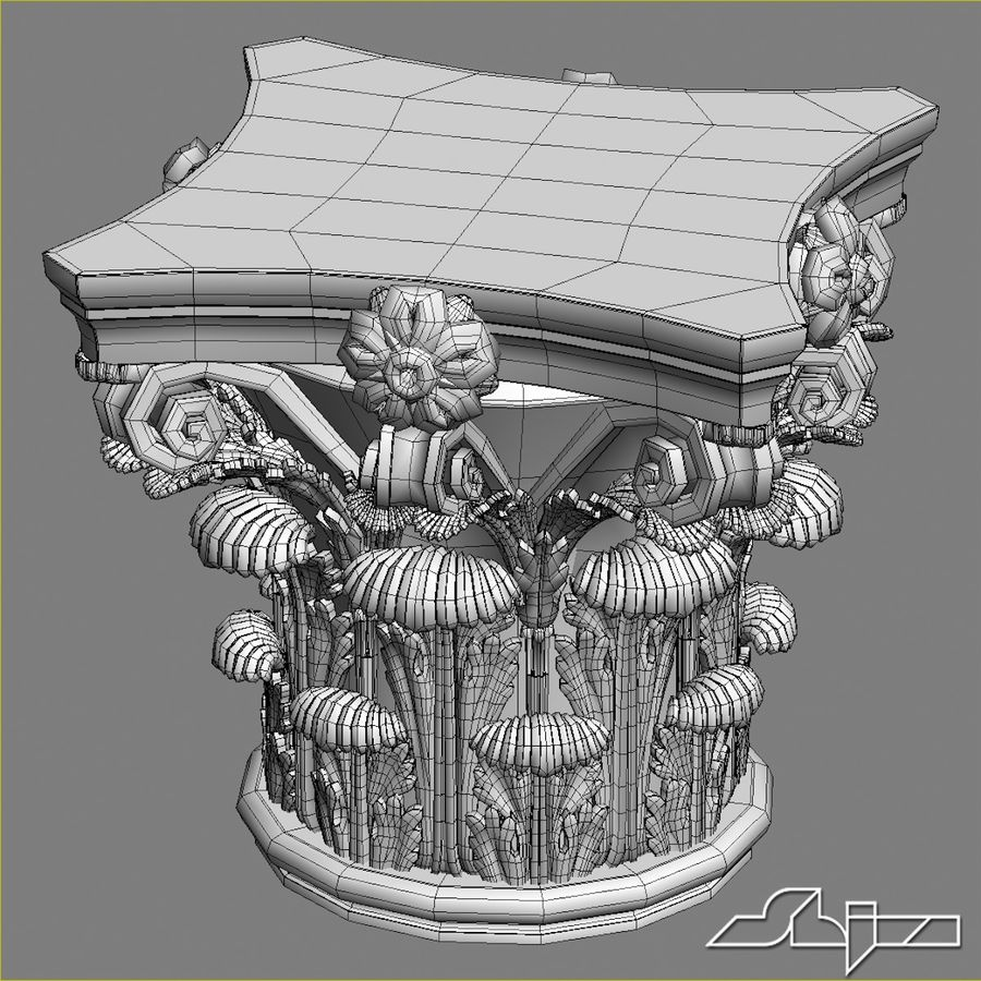 Column Capital royalty-free 3d model - Preview no. 6
