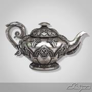 Silver Teapot 3d model