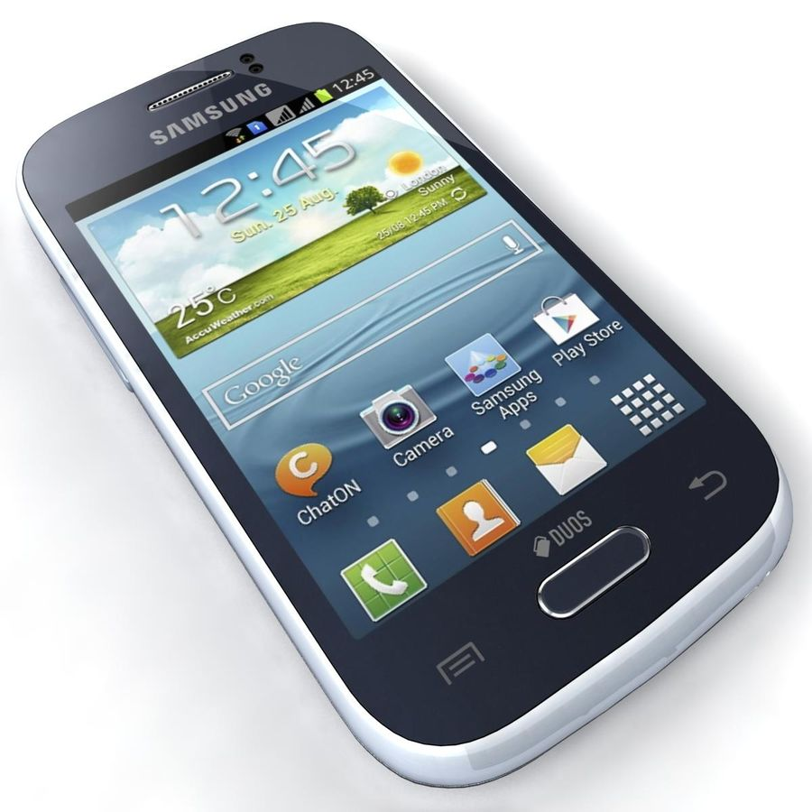 Samsung Galaxy Young S6310 Blue royalty-free 3d model - Preview no. 16