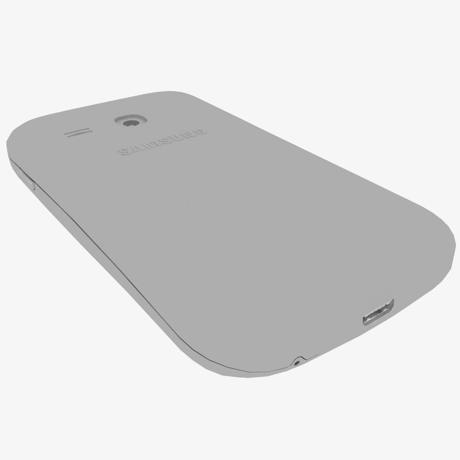 Samsung Galaxy Young S6310 Blue royalty-free 3d model - Preview no. 39