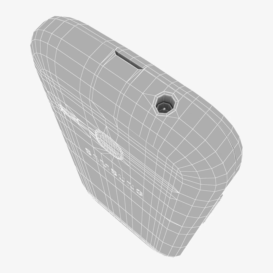 Samsung Galaxy Young S6310 Blue royalty-free 3d model - Preview no. 30