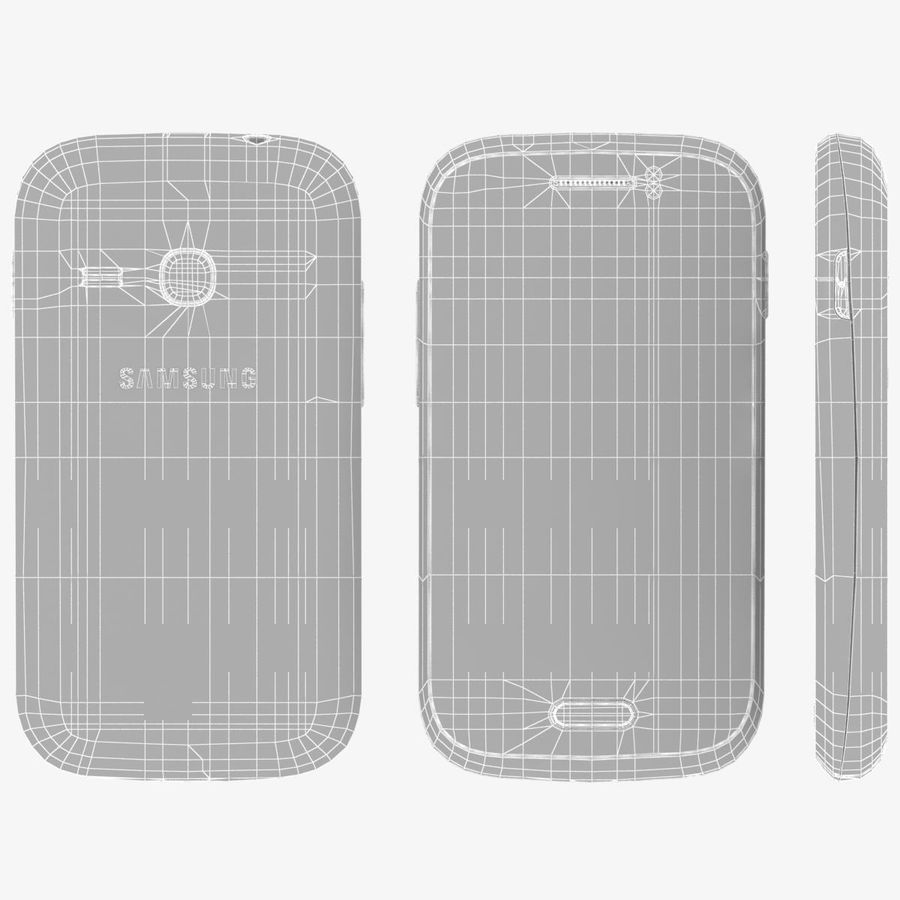 Samsung Galaxy Young S6310 Blue royalty-free 3d model - Preview no. 21