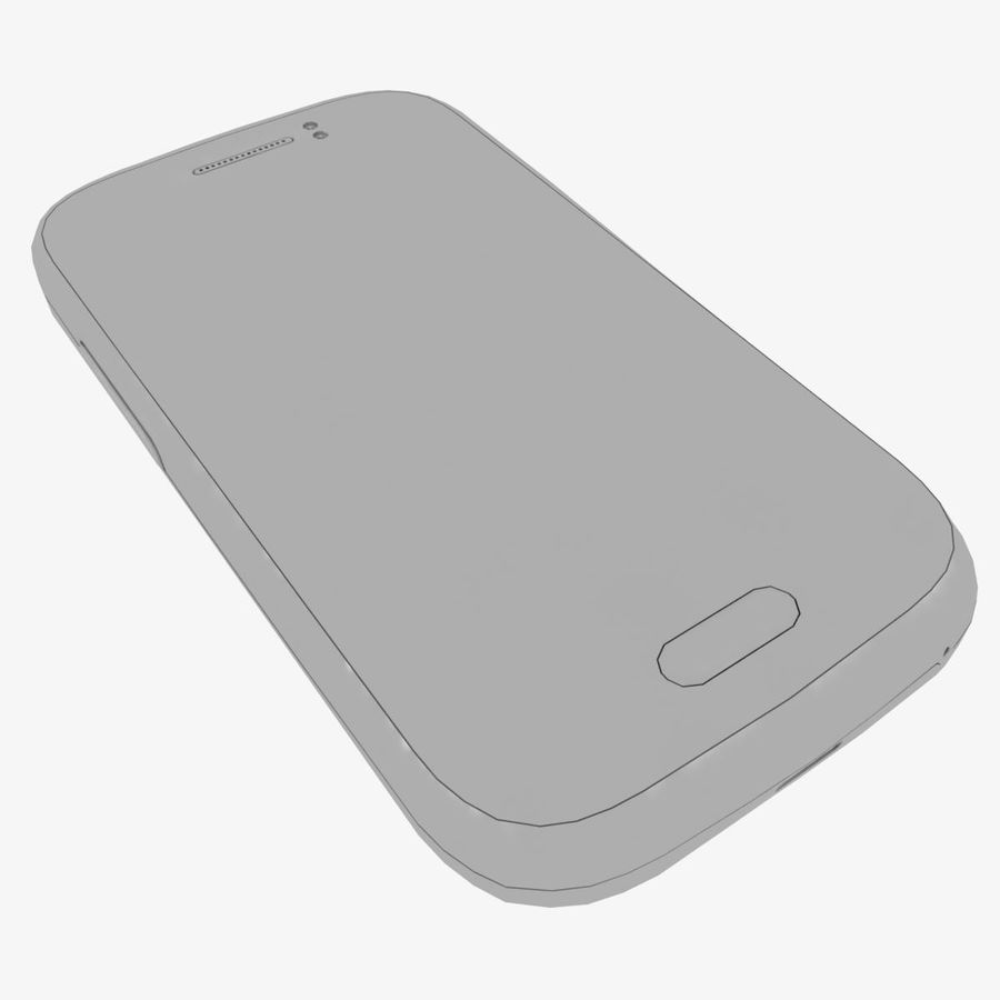 Samsung Galaxy Young S6310 Blue royalty-free 3d model - Preview no. 34