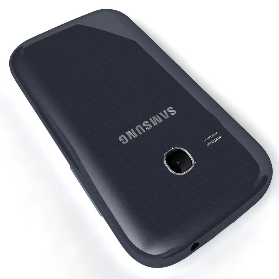 Samsung Galaxy Young S6310 Blue royalty-free 3d model - Preview no. 19