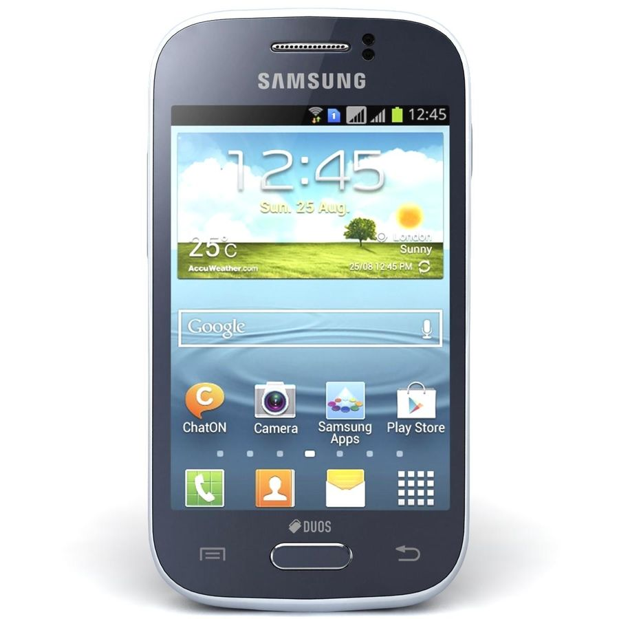 Samsung Galaxy Young S6310 Blue royalty-free 3d model - Preview no. 5