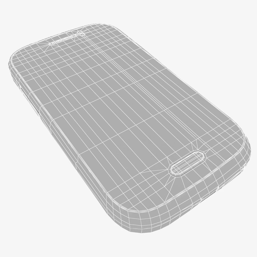 Samsung Galaxy Young S6310 Blue royalty-free 3d model - Preview no. 33