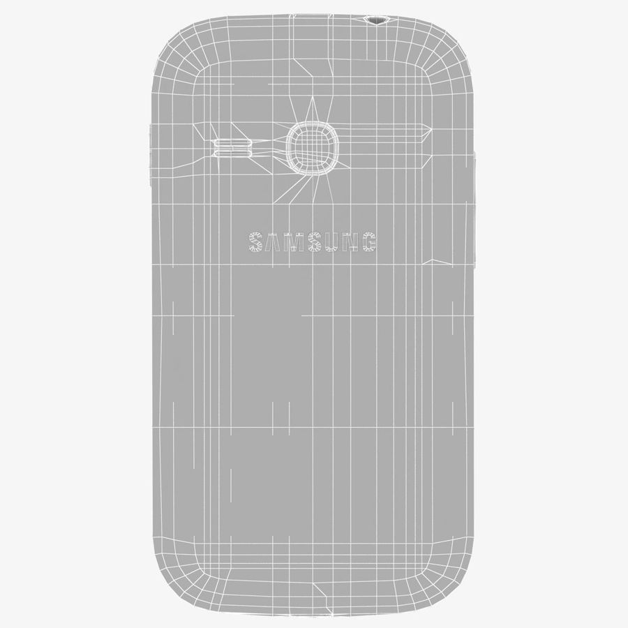 Samsung Galaxy Young S6310 Blue royalty-free 3d model - Preview no. 26