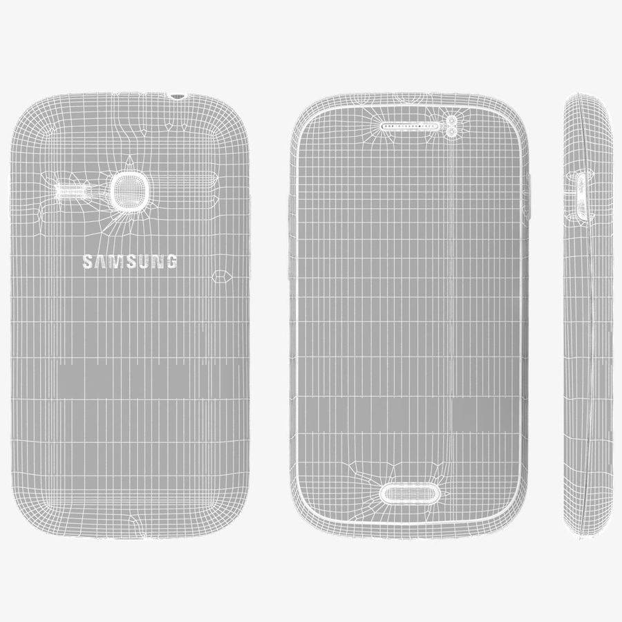 Samsung Galaxy Young S6310 Blue royalty-free 3d model - Preview no. 23