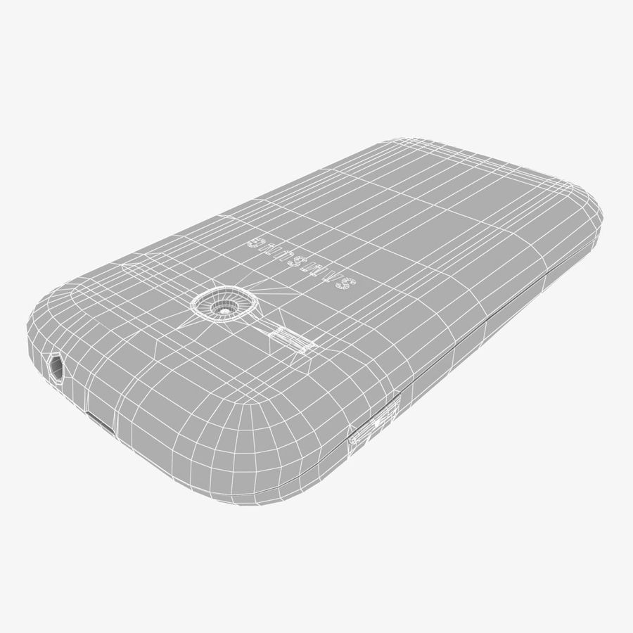 Samsung Galaxy Young S6310 Blue royalty-free 3d model - Preview no. 37