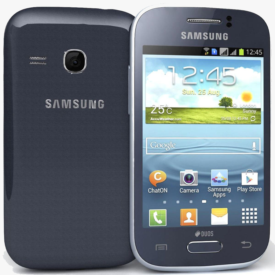Samsung Galaxy Young S6310 Blue royalty-free 3d model - Preview no. 1