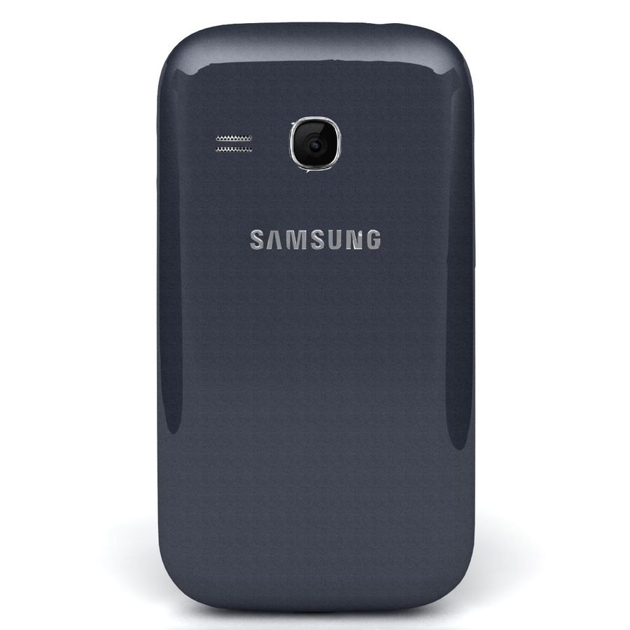 Samsung Galaxy Young S6310 Blue royalty-free 3d model - Preview no. 6
